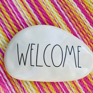 NEW Rae Dunn - WELCOME - ceramic decor stone